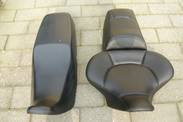 New All-day-long seat from Russell (right) compared to the normal XBR seat (left)