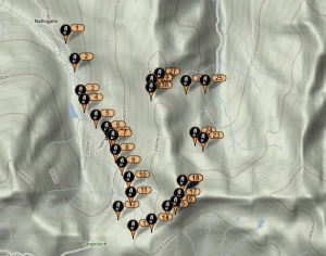 Example of the tracking function of the SPOT.