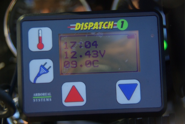 The display of the Disptch 1 in the cockpit.