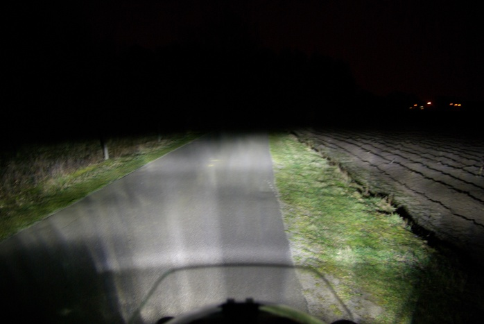The normal, low beam light.