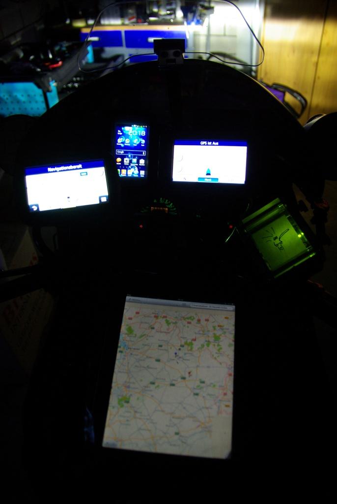 My cockpit at night.