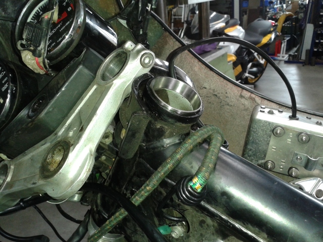 The new bearing seat.