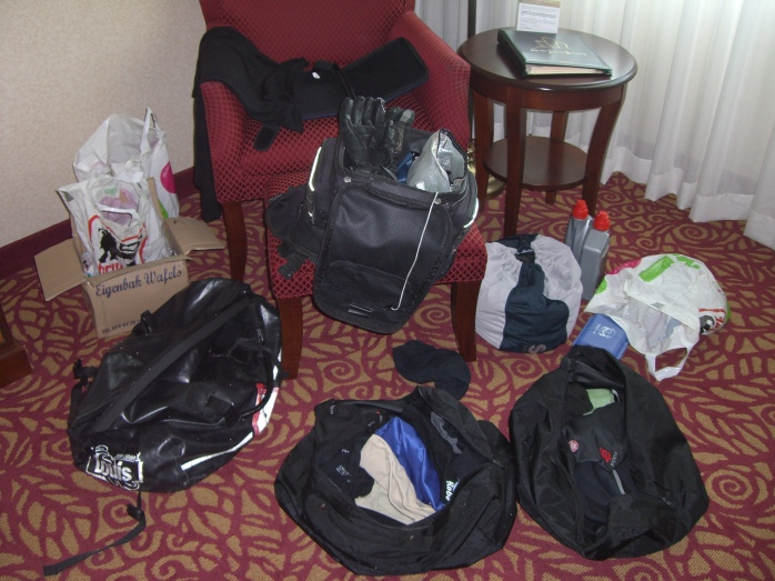 ...the luggage also still needs to be prepared...