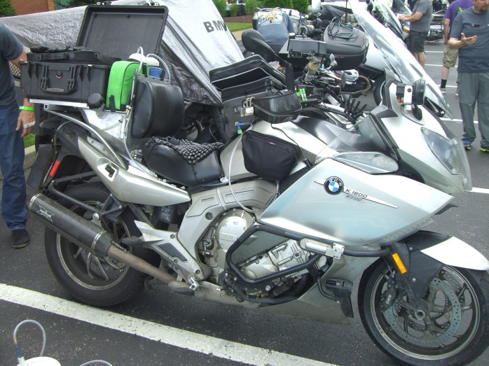 The bike of Ken Meese, one of the top riders and a candidate for top 3
