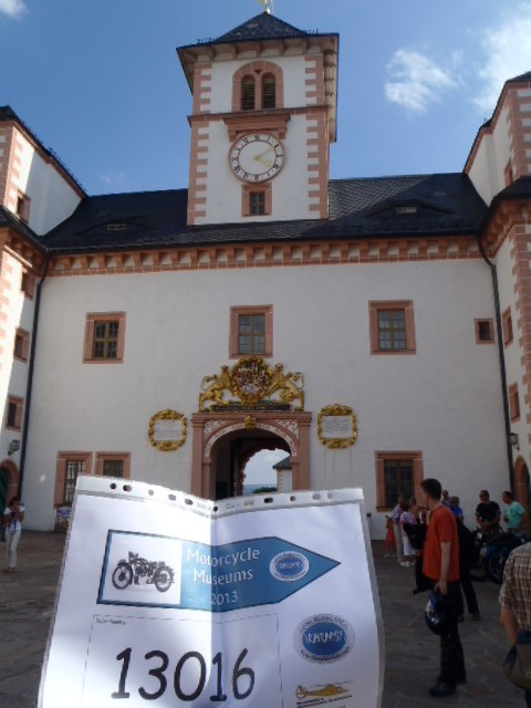 Schloss Augustusburg, home of another motorcycle museum. But no time to visit