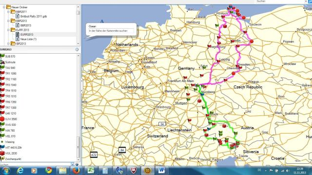 The two possible routes - which one is the winning one?