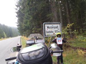 13:19 h. Wurzenpass. A big surprise: no GPS for Slovenia!
