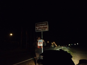 22:42h. Kreuzbergsattel. Had to call the Rallymaster to bag the text bonus (cell phone lag).
