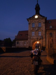 "6:44 h: Old townhall, Bamberg. Had to wait a couple of minutes for the ""daylight""."