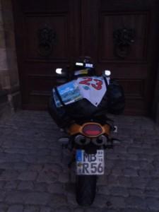 6:51 h: Doors of Bamburg Castle.