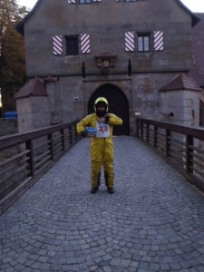 7:00 h: Altenburg Castle. The Rallybook had to be on the picture as well.
