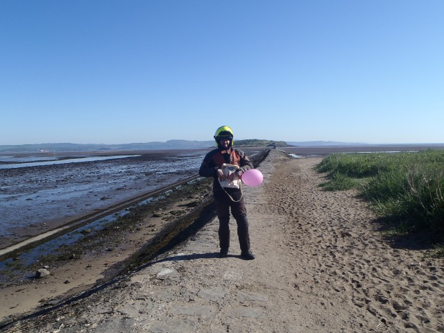 9:01 a.m. Cramond Island. The mandatory and most important bonus point is already bagged!