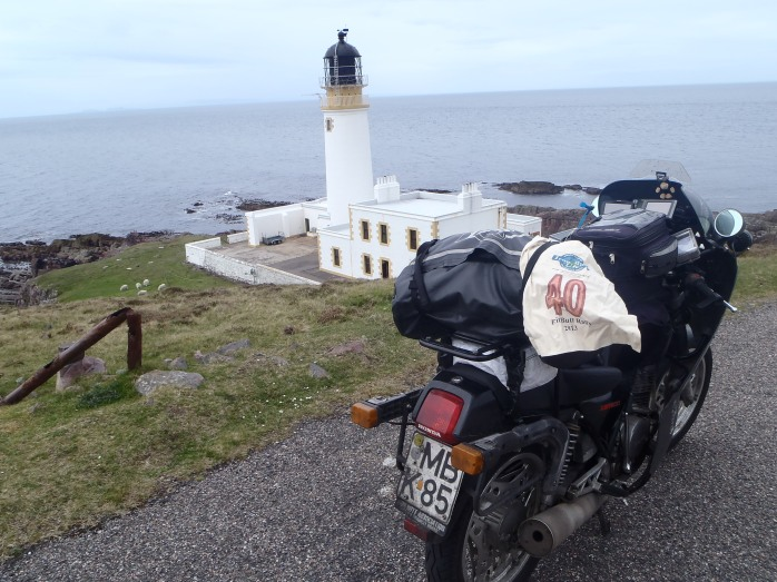 1:03 p.m. Rua Reidh Lighthouse. Scottish Westcoast.