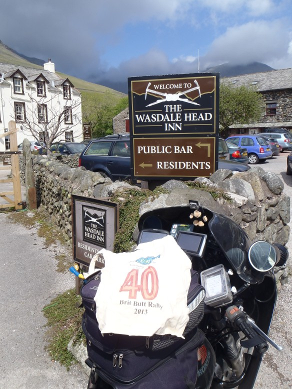 11:43 a.m. Wasdale Head Inn. It claims to be the home of British climbing.