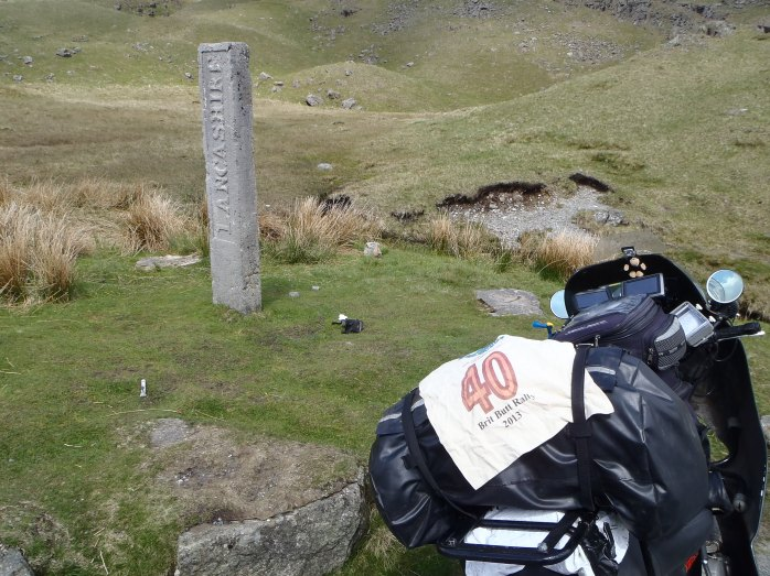 12:25 a.m. The Three Shire Stone in the Lake District.