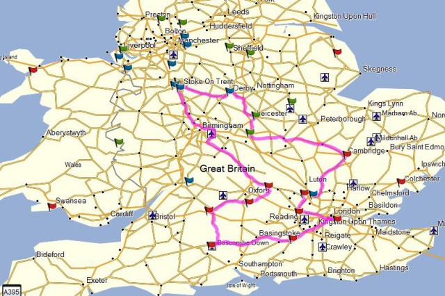 The planned route for the BBL2014.