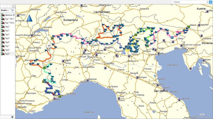 The plan of the XBR-Alpentour 2014