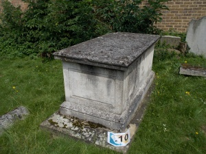 Edmond Halley's grave. Very tricky to find.