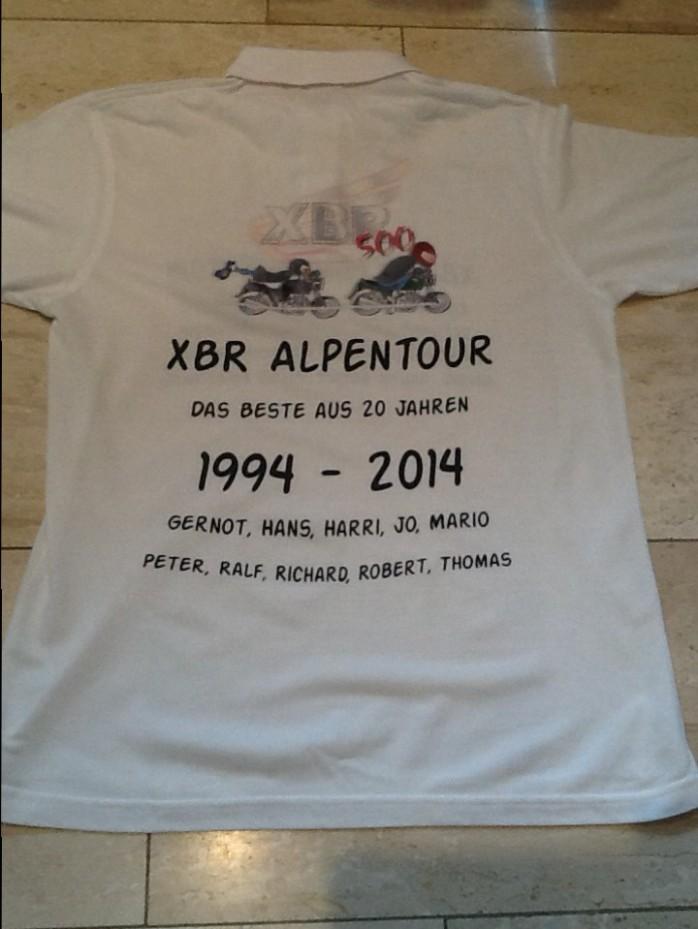 The official 2014 XBR-Alpentour T-Shirt