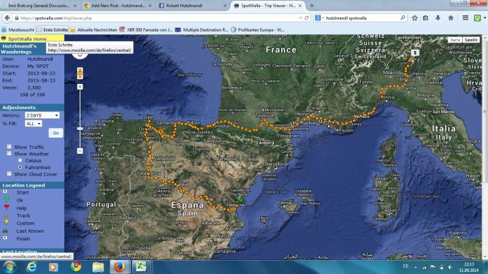 My gorgeous route until my gearbox crashed.