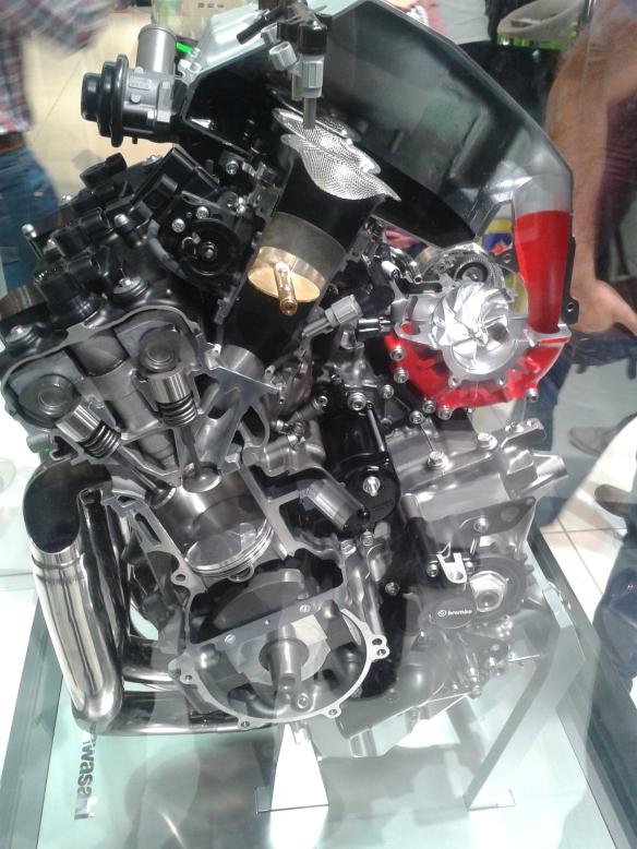 The future Kawasaki H2 turbo motor.