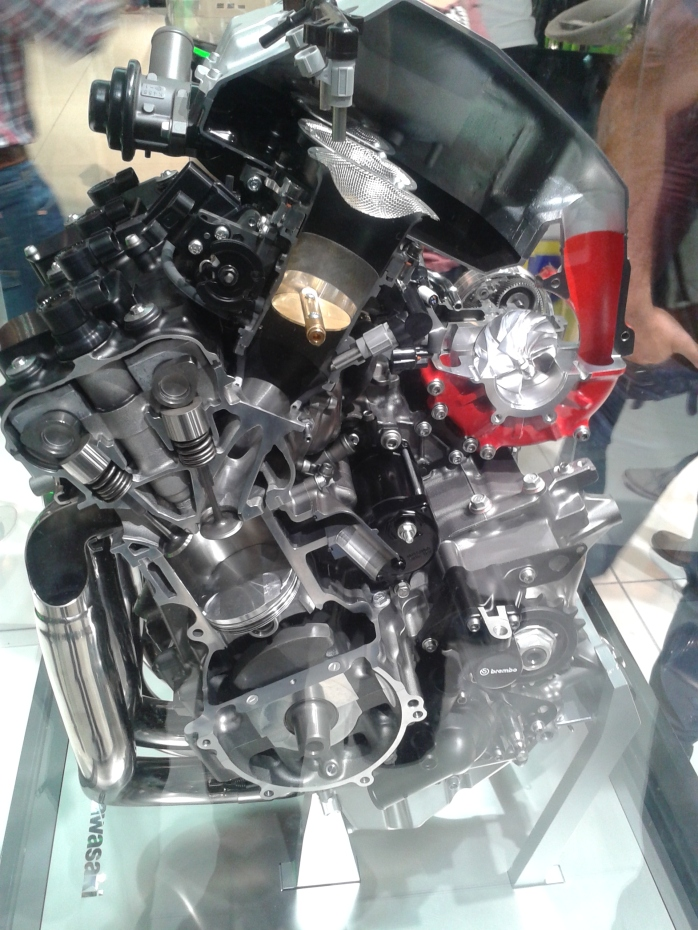 The future Kawasaki H2 turbo motor.