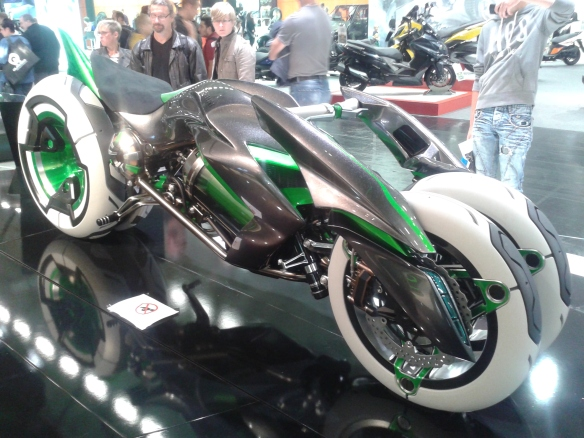 Well, that's definitefely the future....Kawasaki concept bike.
