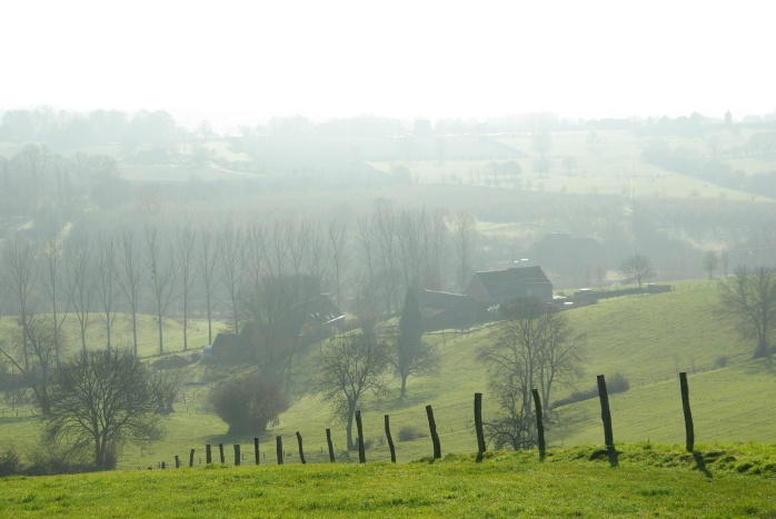 """Landscape around Aubel. Coming from the flat country, this is really """"hilly""""."""