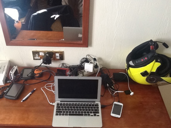Preparing (charging) all the electrical devices...