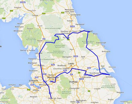 The route. I realised after one hour I hadn't switched on the SPOT!