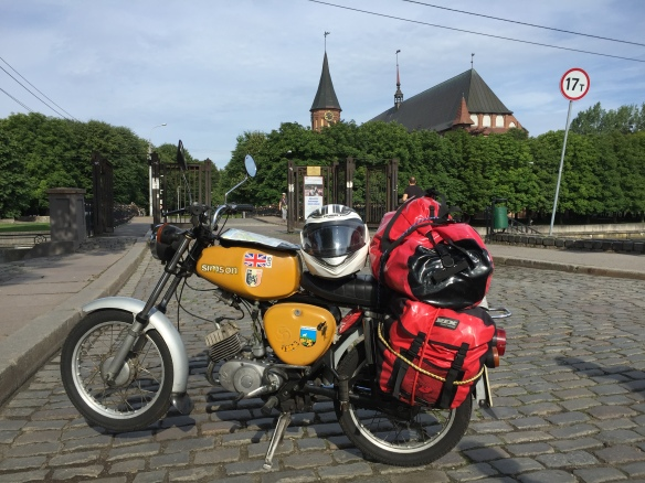 Even slower: a Simson in Kaliningrad.