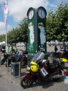 Magic 12 Rally.Düsseldorf.  I hadn't realised for 20 min that I had parked the bike right next to the photo location.