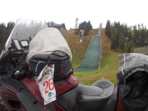 Ski Jump, Slovakia. Lovely weather.